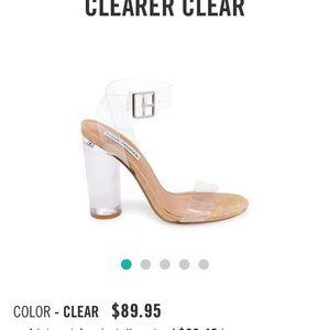 Steve Madden Clear Strap Heels